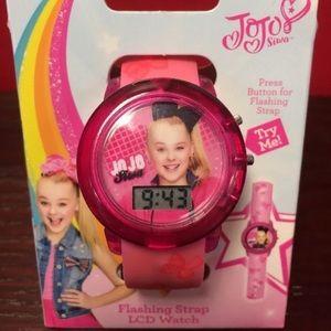 JoJo Siwa Flashing strap Lights Watch LCD Pink New